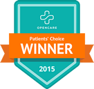 OpenCare Patient's Choice Winner: Voted 2015's best for Optometry treatment and services as reviewed by patients.